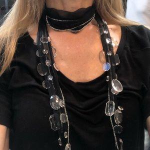 Black Chandelier Necklace -designer Chan Luu
